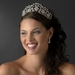 Stunning Silver Clear Crystal Floral Bridal Tiara 9828