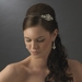 Silver Vintage Couture Rhinestone Bridal Side Accented Headband - HP 8335
