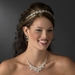 Charming Silver Clear Crystal Flower Necklace & Earring Set 8472