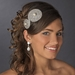 * Silver Clear Pearl on Black Headband Headpiece 4027