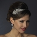 Antique Silver Side Accented Rhinestone & Pearl Headband HP 936 ***Only 1 Left***