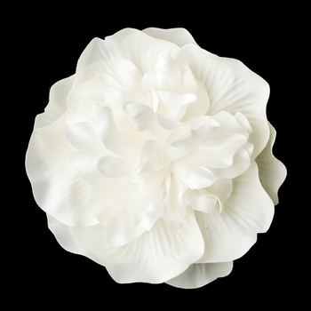 Bridal Flower Hair Clip 429 Ivory with Brooch Pin