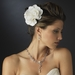 Ivory Couplet Gardenia Flower Hair Clip 446***Discontinued***