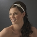 * Silver Headband Headpiece 8428 (White or Light Ivory)