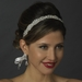 Crystal & Pearl Bridal White Ribbon Headband Headpiece 6474