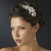 Silver Clear Rhinestone Floral Side Accented Bridal Side Accented Headband Headpiece 1772