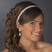 Ivory Beaded Sequin Fabric Headband Headpiece 2208
