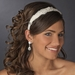 Feather & Rhinestone Accented Bridal Headband HP 612 (White or Ivory)