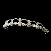 * Silver Clear All Rhinestone Headpiece 2556