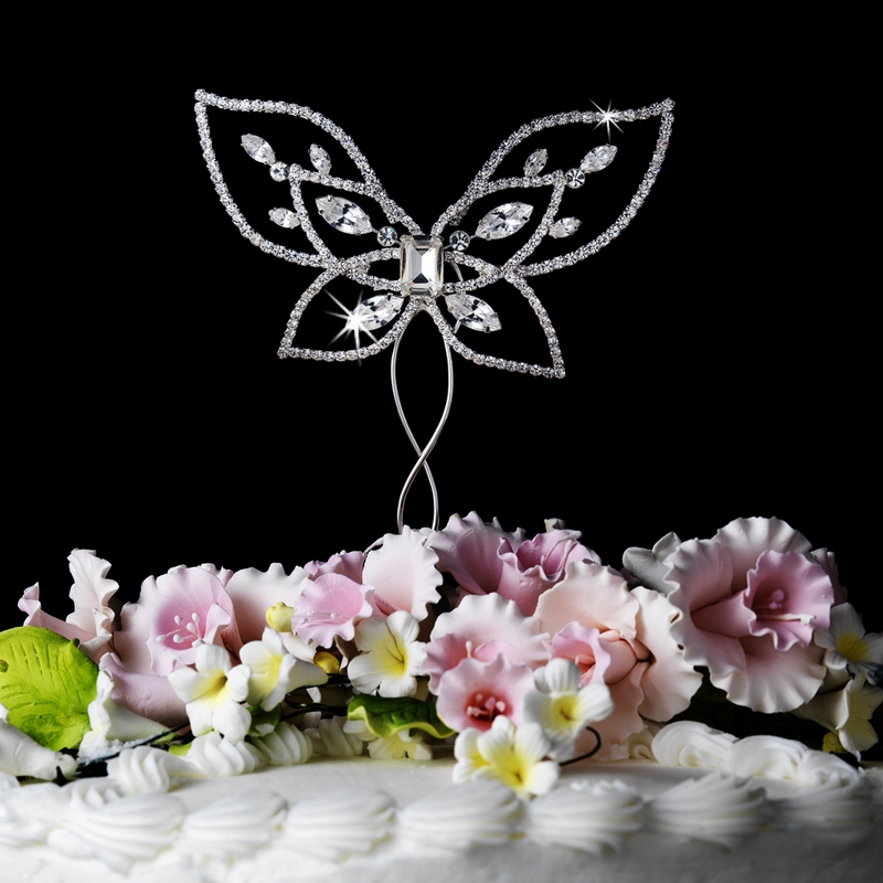 wholesale wedding cake toppers butterfly wedding or anniversary cake top 1391
