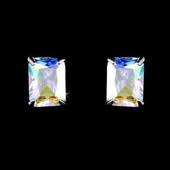 Silver-AB Cubic Zirconia Earring E3322-AB