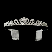 Silver Clear Rhinestone Kate Middleton Inspired Bridal Tiara Comb Headpiee ***Discontinued***