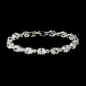 Silver Clear CZ Stone Bracelet 10383***Discontinued***
