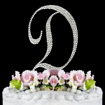 Completely Covered ~ Swarovski Crystal Wedding Cake Topper ~ Letter D