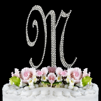 Completely Covered ~ Swarovski Crystal Wedding Cake Topper ~ Letter M