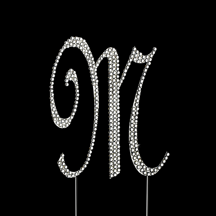 Wedding Cake Toppers Letter M : Completely Covered ~ Swarovski Crystal Wedding Cake Topper ...