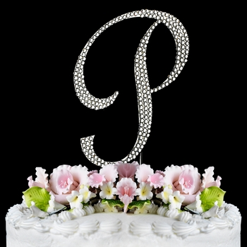 Completely Covered ~ Swarovski Crystal Wedding Cake Topper ~ Letter P