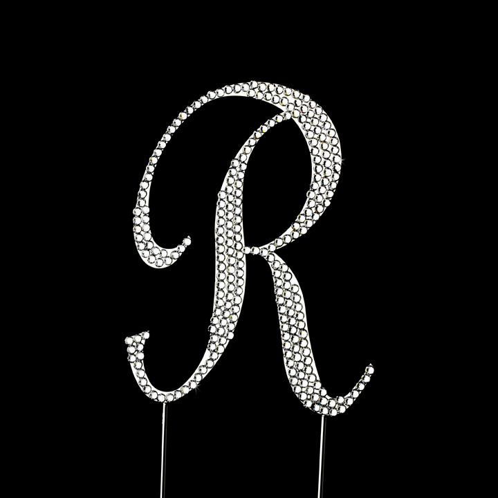 Wedding Cake Toppers Letter R : Completely Covered ~ Swarovski Crystal Wedding Cake Topper ...