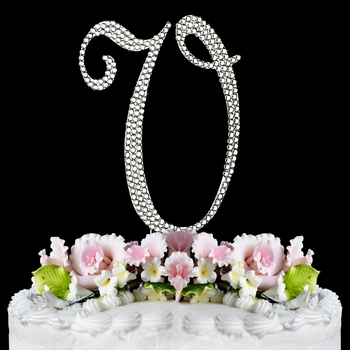 Completely Covered ~ Swarovski Crystal Wedding Cake Topper ~ Letter V