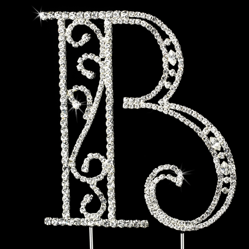 swarovski wedding cake topper romanesque swarovski wedding cake topper letter b 20680