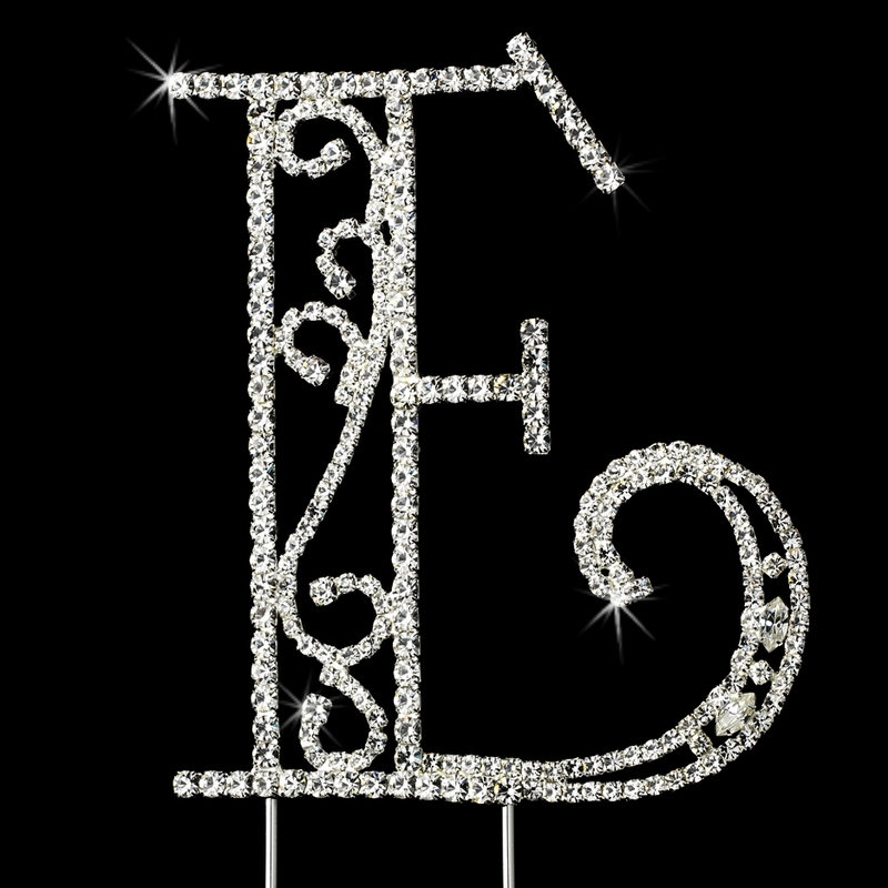 crystal letter wedding cake toppers romanesque swarovski wedding cake topper letter e 13111
