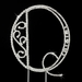 Romanesque ~ Swarovski Crystal Wedding Cake Topper ~ Letter Q
