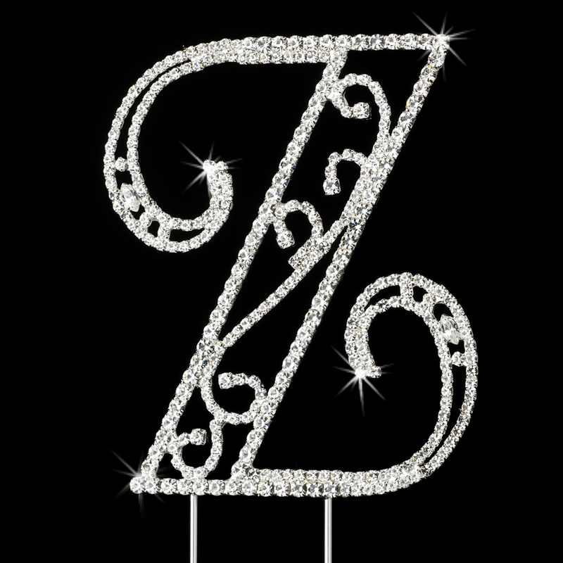 wedding cake toppers letters romanesque swarovski wedding cake topper letter z 26517