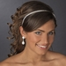 * Silver White Clear Headpiece 8458