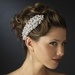 * Silver Clear Floral Marquise Crystal & Rhinestone Side Comb 7574