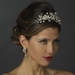 Ivory Pearl & Crystal Accented Side Bridal Headband HP 751