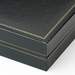 Black Leatherette Deluxe Necklace Jewelry Box # 12