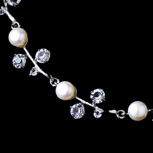 Classic Freshwater Pearl and Crystal Jewelry Set NE 1043