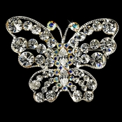 * Rhinestone Butterfly Brooch 3178 in Clear or AB