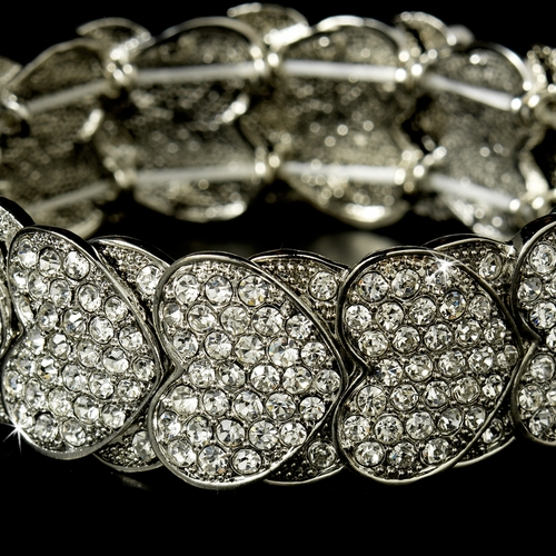 * Stretch Bracelet 1098 Silver Clear