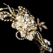 Swarovski Crystal Gold Bridal Jewelry 7802 & Comb 8148