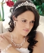 Pearl & Swarovski Crystal Bridal Jewelry & Tiara Set 8135