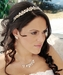 Freshwater Pearl & Crystal Gold Bridal Necklace Earring & Tiara Set 8147