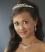 Swarovski Crystal Bridal Necklace Earring & Tiara Set 8237