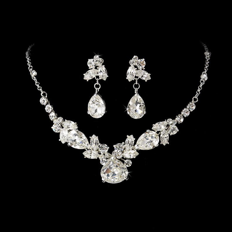 Designer bridal jewelry the best photo jewelry vidhayaksansad whole crystal matching bridal jewelry tiara set from junglespirit Image collections