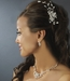 * Beautiful Silver Floral Bridal Comb w/ Clear Rhinestones 8239**Discontinued***