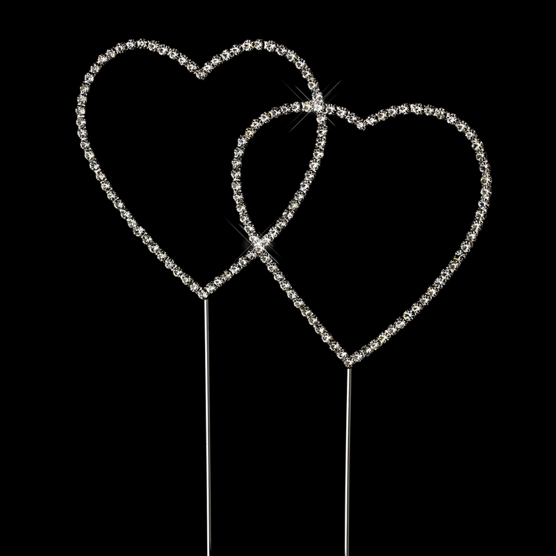 swarovski crystal double heart wedding cake topper renaissance swarovski wedding cake topper 20673