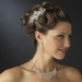 Couture Rhinestone Silver Plated Swirl Bridal Hair Comb 8365