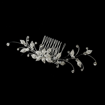 Silver Clear Rhinestone Side Comb 9958 **Discontinued***