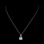Silver Clear CZ Crystal Necklace 8789