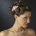 Exquisite Silver Clear Crystal Hair Comb 9803