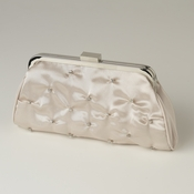 Champagne Satin Rhinestone Evening Bag 303