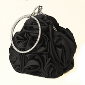 Satin Evening Bag 310 with Rhinestone Accented Vintage Frame