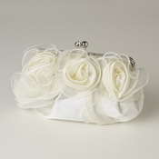 Cream Satin Flower Evening Bag 313