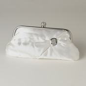 White Satin Crystal Evening Bag 315