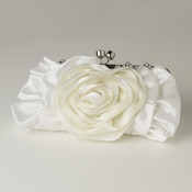 Cream Floral Rose Rhinestone Evening Bag 316